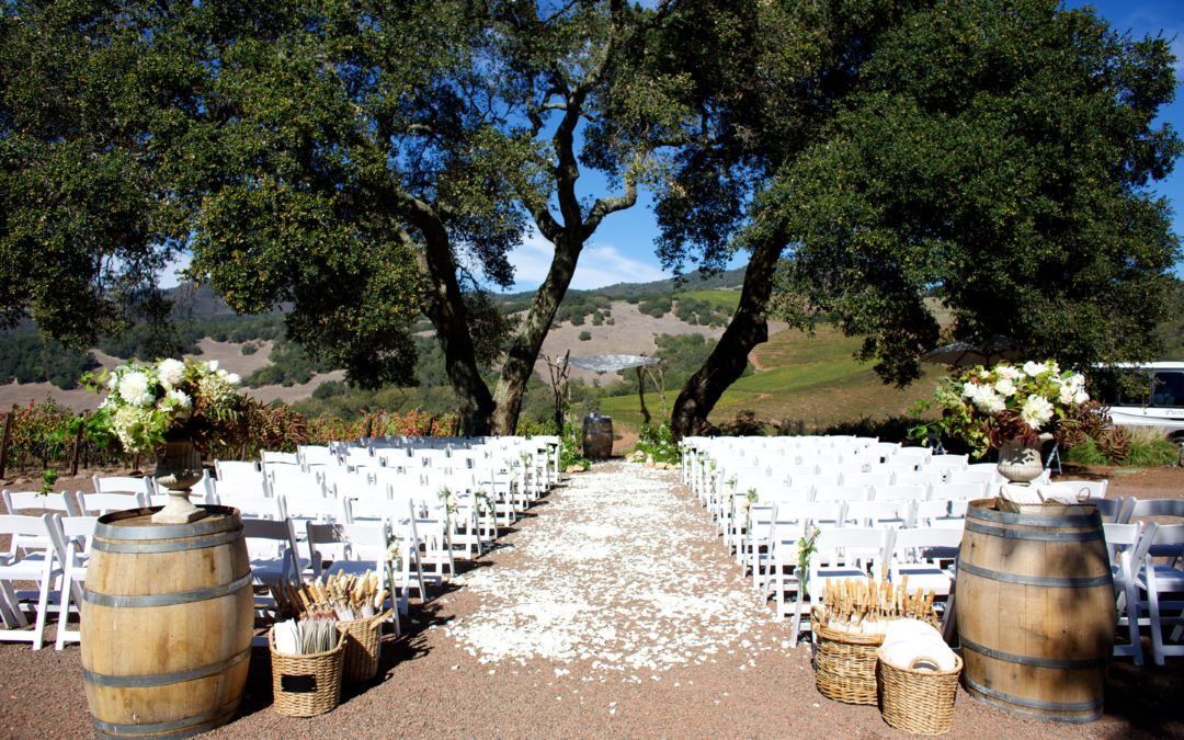 Little Blue Box Weddings Recently Featured on Borrowed & Blue's Napa Wedding Blog!