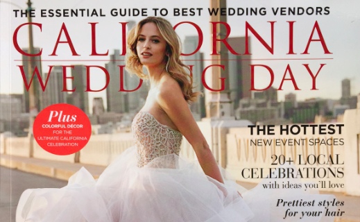 Little Blue Box Weddings Featured as a Haute Vendor in California Wedding Day Magazine