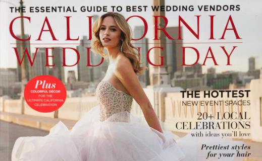 Little Blue Box Weddings Featured as a Haute Vendor in California Wedding Day Magazine
